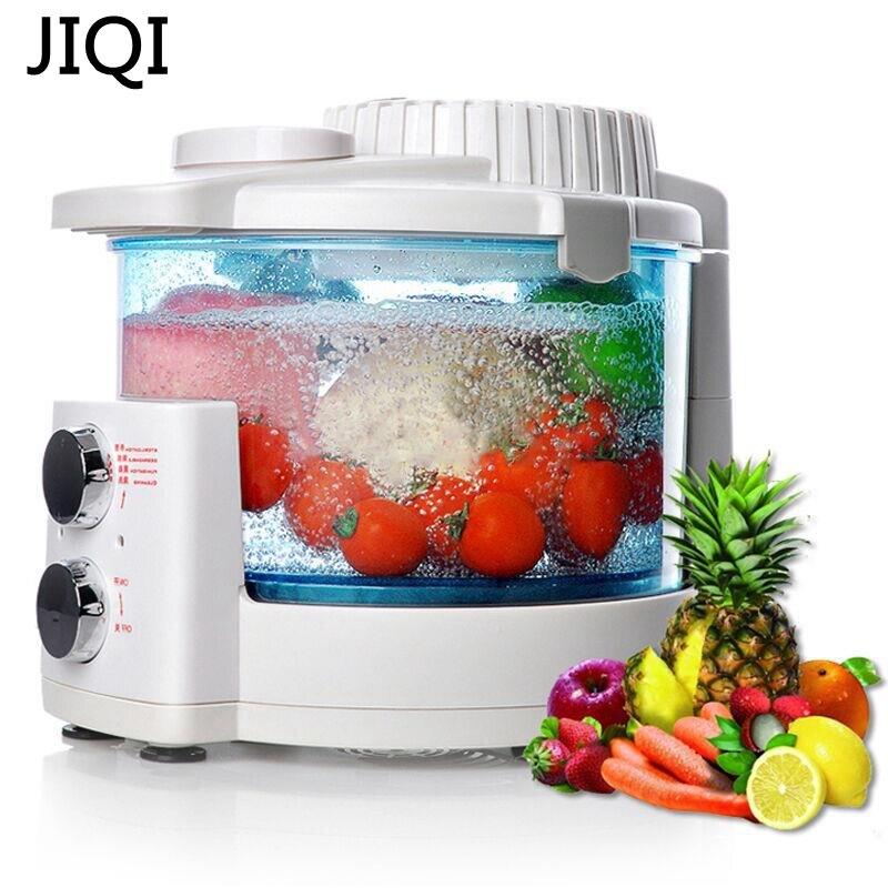 JIQI آلة الأوزون غسالة الخضروات المنزلية التلقائي آلة تطهير الخضروات الفاكهة تعقيم آلة إزالة السموم
