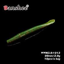 ¡Producto en oferta! Señuelo blando WWM3.9 Swimbait de 2,9g/ 99mm, 10 unids/lote, señuelo realista Walleye bass, señuelo Artificial para anzuelo loco