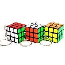 3x3x3 Mini Magic Cube Keychain Pendant Professional Speed Pocket Cube Backpack Car Pendant Decoration Puzzle Education Kids Toys