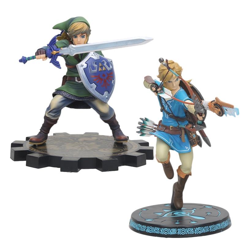 20cm/25cm Link Breath of the wild Sky Ward Zelda pvc action Figure toys