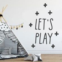 Lassen sie uns Spielen Wand Aufkleber, Kinder Zimmer Dekor, kindergarten Wand Vinyl Aufkleber Für Baby Mädchen jungen Bedrom Niedlich Tapete BO09
