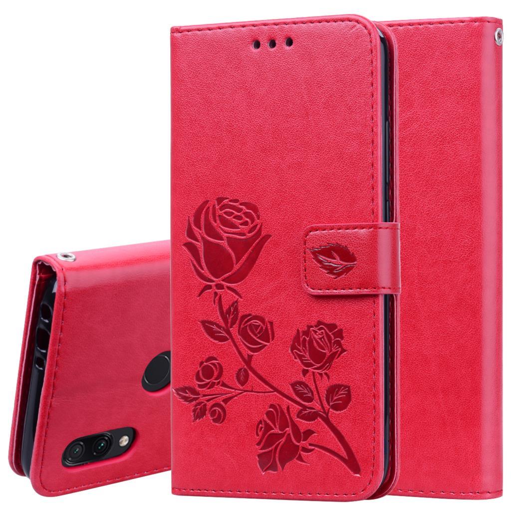 Funda de cuero con tapa para teléfono Xiaomi Redmi 7, carcasa de...