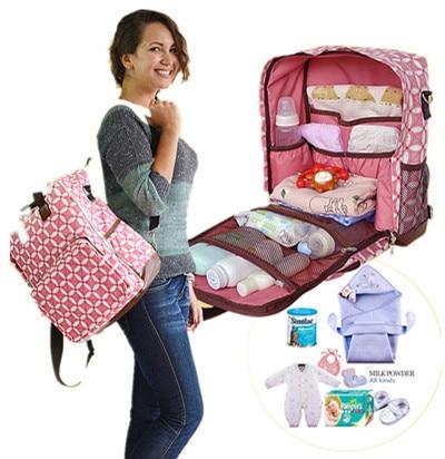 ¡Promoción! Bolsas de pañales para bebé, bolsas de pañales para bebé, bolsas de maternidad para mamá, bolso para mujer, mochila de hombro