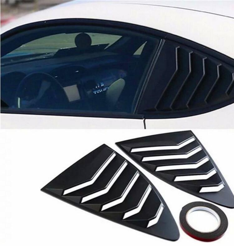 2 uds de fibra de carbono ABS de ventana de puerta de marco para persiana embellecedor tipo moldura para alféizar de ventana para Subaru BRZ y Toyota 86 GT86 2013-2018
