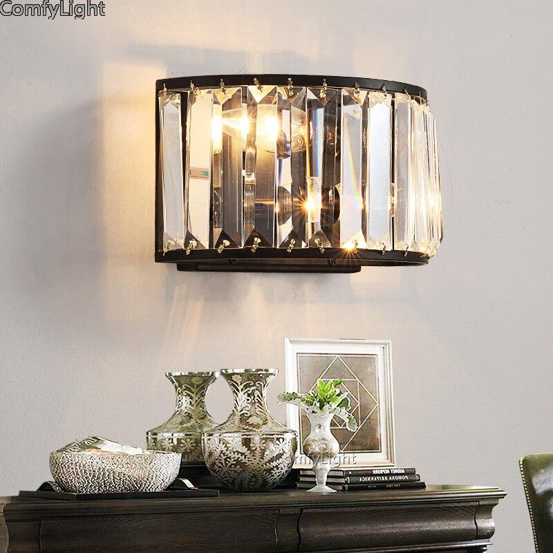 Lâmpadas de Parede De Cristal LEVOU Lâmpada Sala de Cabeceira de visagiste Nórdico Bonito Arandela Luminárias luz Da Cozinha levou luminaria