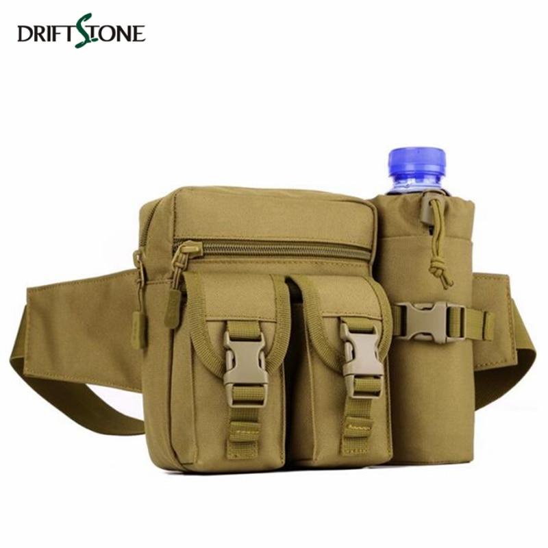 Bolso de la cintura de la botella de agua táctica Molle impermeable Sling EDC bolsa bolsas ligero deporte Camping Pack escalada caza