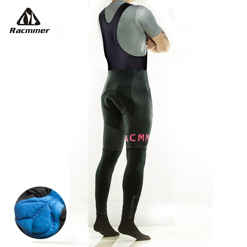 Racmmer-Pantalones largos acolchados de Ciclismo para hombre, medias de Gel 5D para...