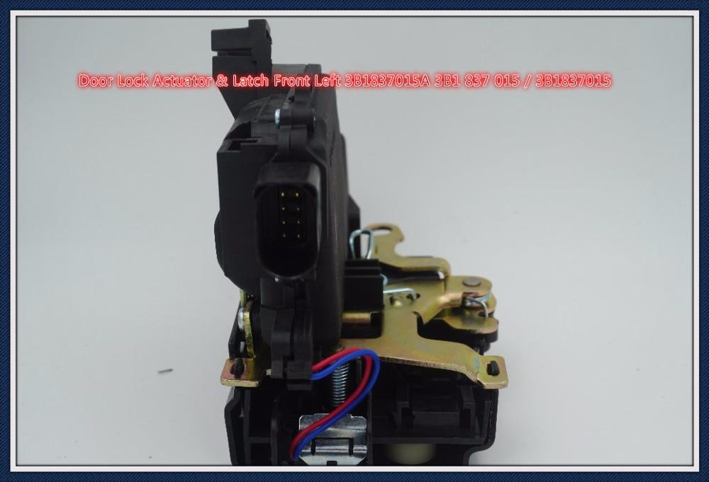 Actuador de bloqueo de puerta y pestillo delantero izquierdo 3B1837015A 3B1 837 015/3B1837015 para VW conejo Jetta Passat Golf Beetle