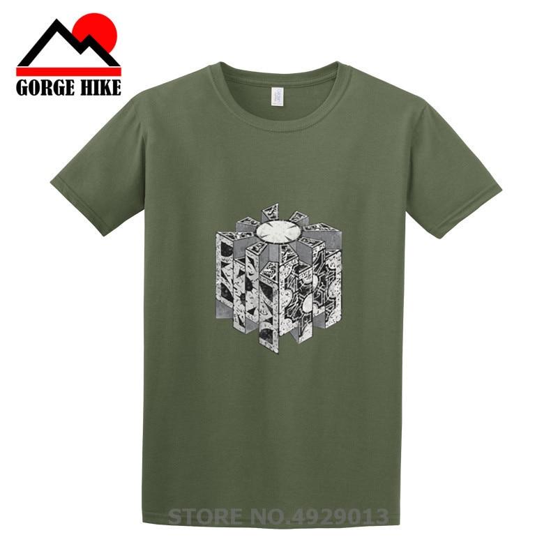 Nuevo bajo descuento Geek Hellraiser rompecabezas caja divertida Camiseta de algodón para hombres de manga corta Camiseta para hombres camiseta de talla grande