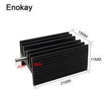 Enokay 30 قطعة 21x15x11 مللي متر الألومنيوم إلى 220 غرفة التبريد 220 الحرارة بالوعة الترانزستور المبرد TO220 مسند تبريد للاب توب مدمج به مكبر صوت 21*15*11 مللي متر