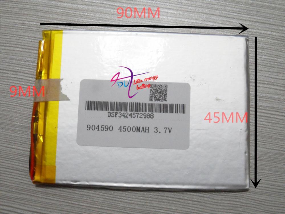 3.7 V bateria de polímero de lítio 904590 Tablet PC Pocket PC de alta capacidade 4500 MAH