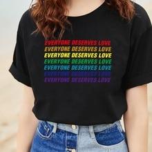 Camiseta a la moda de estilo veraniego, todo el mundo merece amor, camiseta de Color arcoíris, camiseta BTS Love Yourself, camiseta Kim Seokjin