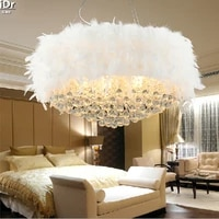 specials modern minimalist restaurant lamp bedroom lamp crystal lamp lighting round led feathers ceiling lights rmy 0179