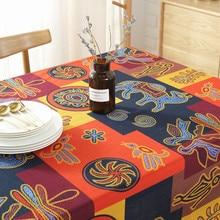 ROMANZO-nappe en lin naturel asie du sud-est   Nappe de Style National indien, décoration de café Bar