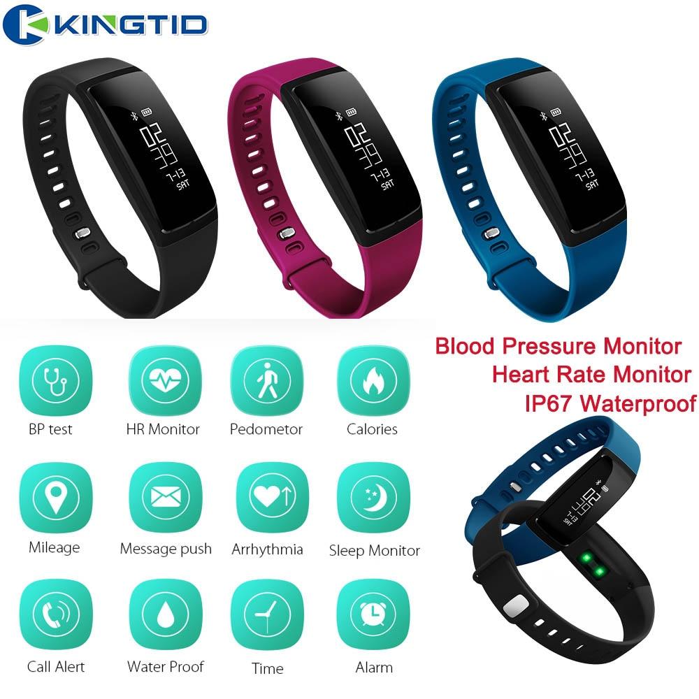 V07 inteligente Bluetooth banda deporte pulsera de corazón de Monitor de presión arterial pulsera IP67 impermeable para IOS Android Teléfono