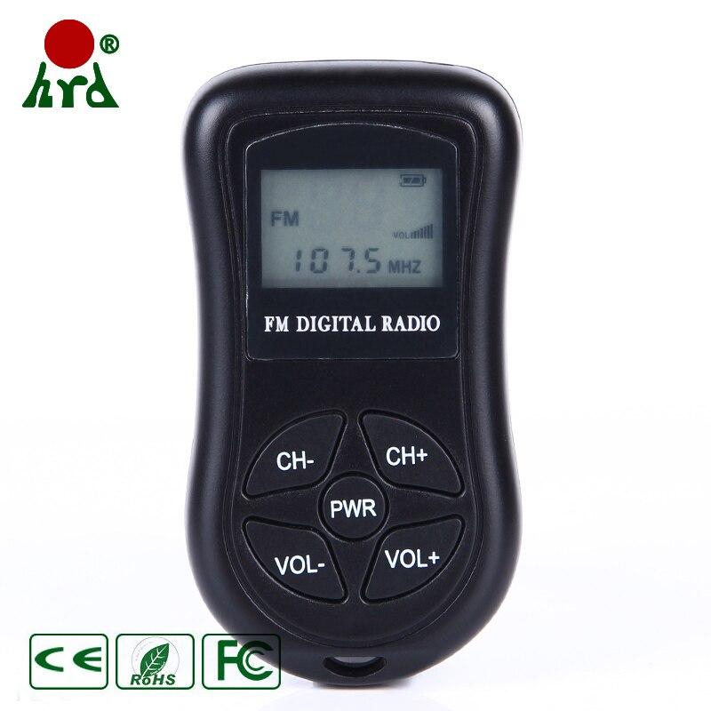 Mini estéreo Digital DSP, Radio FM AM, receptor de Radio estéreo para reuniones, Radios de ensayo, 60-108MHz con auriculares, HDR-107