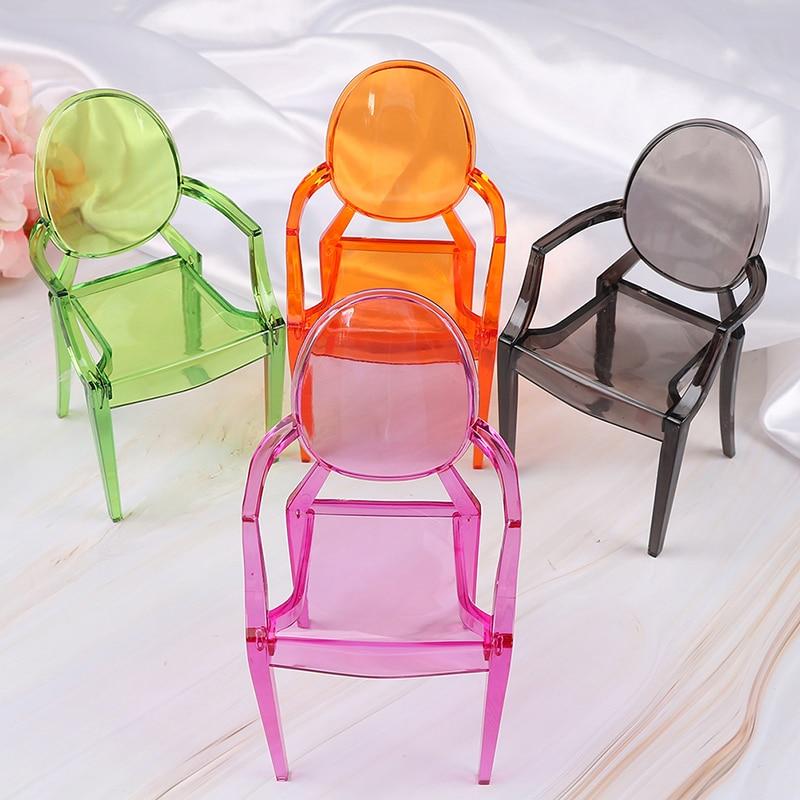 Maqueta de brazo silla modelo 1/6 casa de muñecas miniatura muebles minimalismo pequeño respaldo asiento accesorio de juguete para figuras de acción/niños