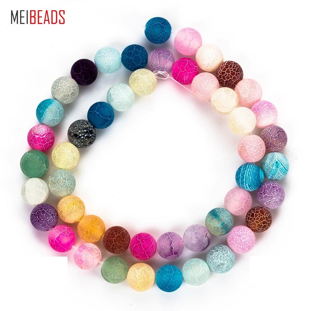Meibeads pedra natural resistido forma redonda colorido natural grânulos de pedra acessórios apto pulseira diy jóias fazendo ey5215