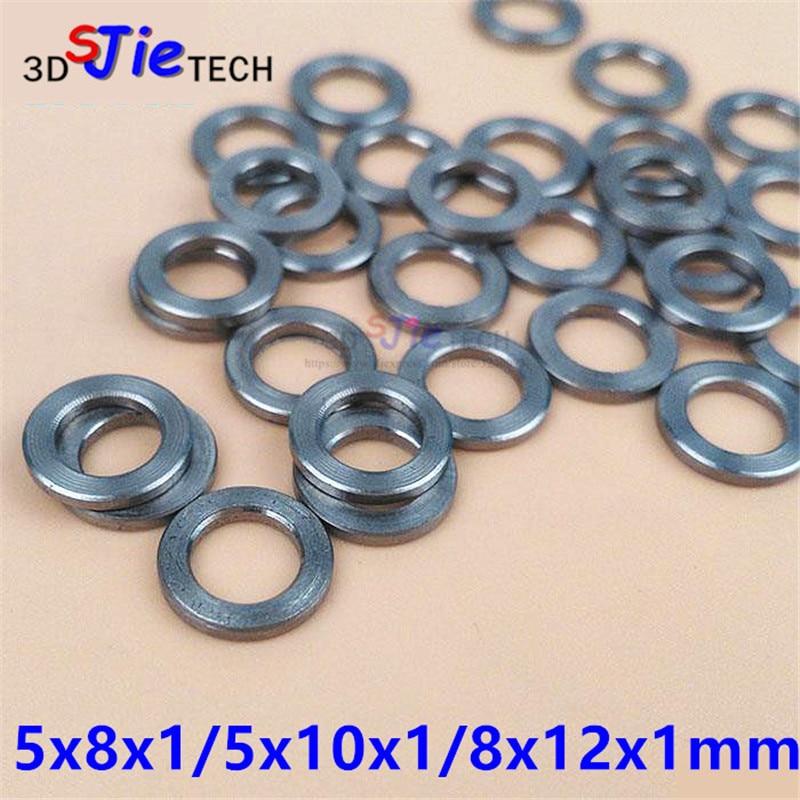 50 Uds 5x8x1mm 5x10x1mm 8x12x1mm Mini V de precisión Shim arandela de acero inoxidable para OpenBuilds/CNC/3D impresora mini Kit de rueda
