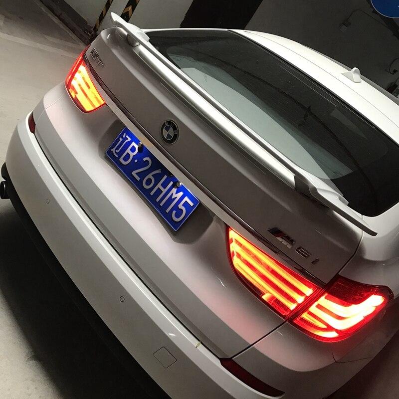 Alerón trasero de coche ABS para BMW serie 5 gt f07, alerón trasero con imprimación de color, alerón trasero para BMW GT style 530d 535d 535i 550i
