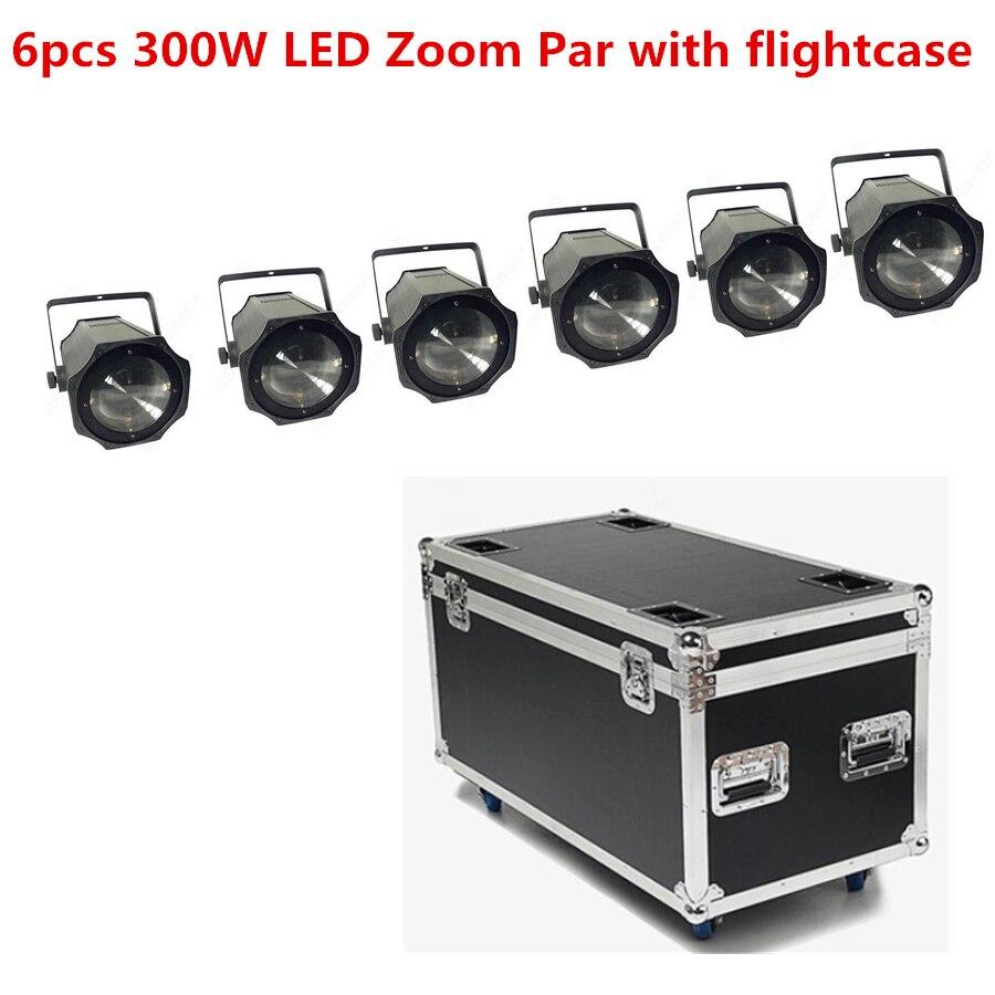 6x LED Zoom 300W COB LED Par ، مصباح كشاف 5-50 درجة ، 3200K ، أبيض دافئ/RGBW 4 في 1 ، ضوء المرحلة ، ديسكو Par 64