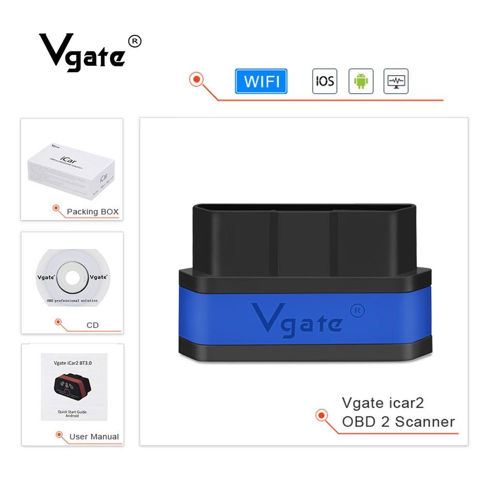 Vgate iCar2 WIFI scan tool Auto Diagnose werkzeug ELM327 obd2 scanner Mini ulme 327 V2.1 OBD2 unterstützung J1850 protokoll PK v1.5