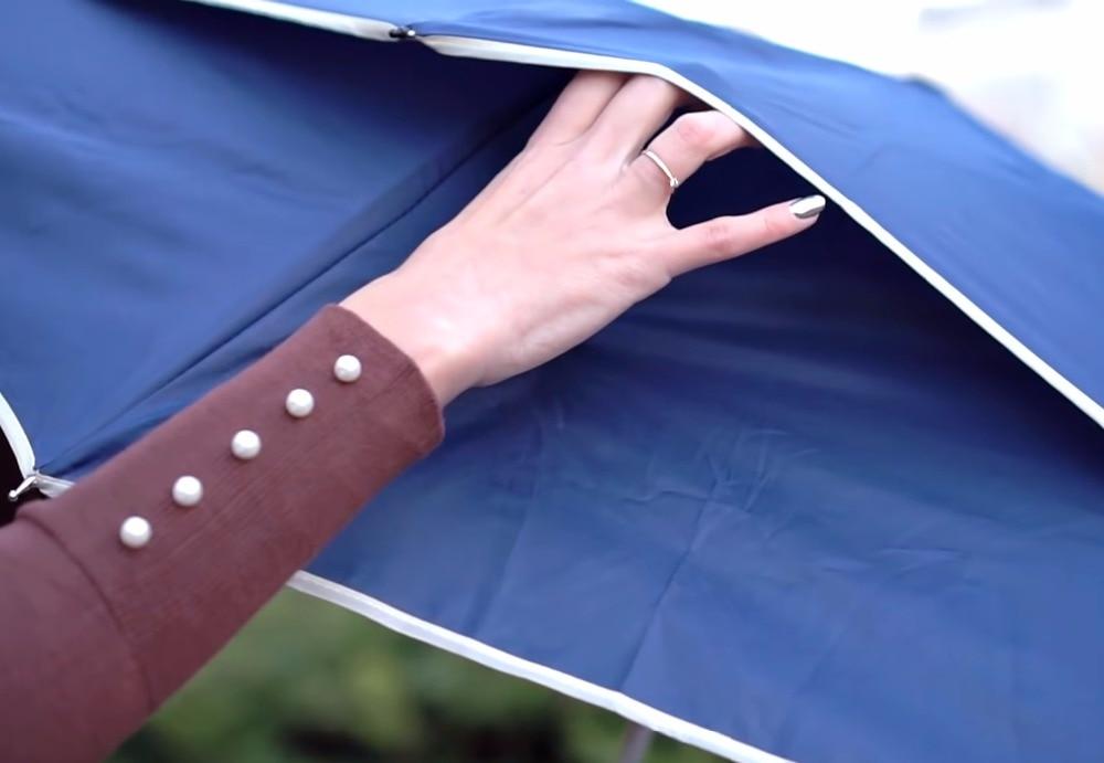 4pcs/lot 112cm visible true double layer two fold auto open golf umbrella 70T steel anti-thunder windproof fiberglass parasols enlarge