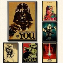 Cartel de película de Serie de Star Wars Nueva Esperanza/El retorno del Jedi/el despertar de la Fuerza/ROGUE ONE/pintura artística de pared lienzo vintage