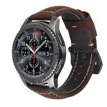 20mm 22mm Lederen horlogebandje Band voor Samsung Gear S3 S2 Galaxy 42/46mm actieve voor Amazfit Stratos 2 2S armband bands