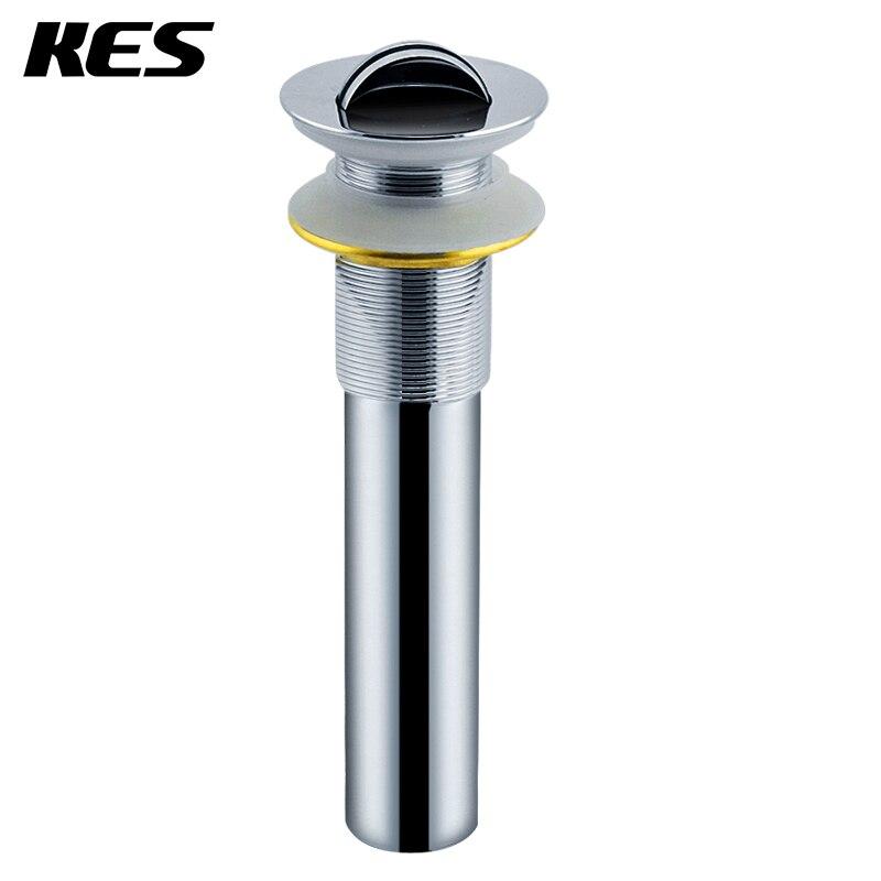 KES S2005D baño tocador fregadero tapa de drenaje sin desbordamiento, cromo