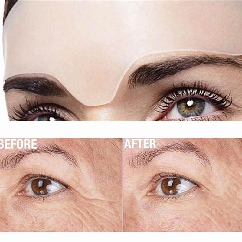Anti enrugamento olho rosto almofada reutilizável grau médico silicone invisível almofada de peito eliminar e evitar rugas de rosto