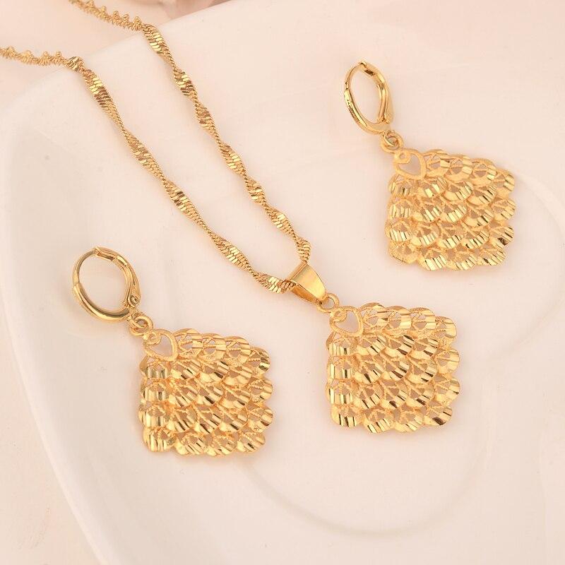 Набор золотых ожерелий и серег, женский подарок на вечеринку, большие наборы украшений в форме листьев, повседневная одежда, подарок для мамы, подвески для женщин и девочек