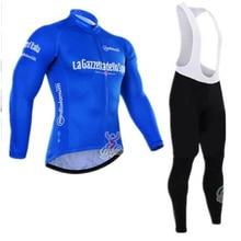 Invierno térmico polar ciclismo Pro girode Italia ciclismo jersey ropa ciclismo hombre bicicleta maillot 12D gel almohadilla ciclismo ropa