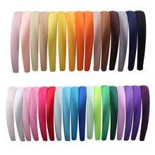 Candygirl 15/20mm cinta para el pelo de resina recubierta de satén caramelo para mujeres niñas y niños bandas elásticas de satén sólido para el cabello diadema DIY Aro para el pelo