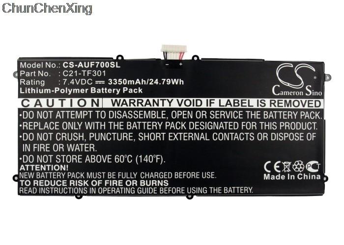 Bateria 3350 de cameron sino C21-TF301 mah para a almofada tf700 de asus ee, tf700t, almofada do transformador tf700, transformador tf700