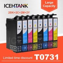 2 Set 73N T0731 Volle Tinte Patrone Für Epson Stylus CX5900 CX6900F CX7300 CX7310 CX8300 CX9300F TX210 TX100 TX105 TX200 drucker
