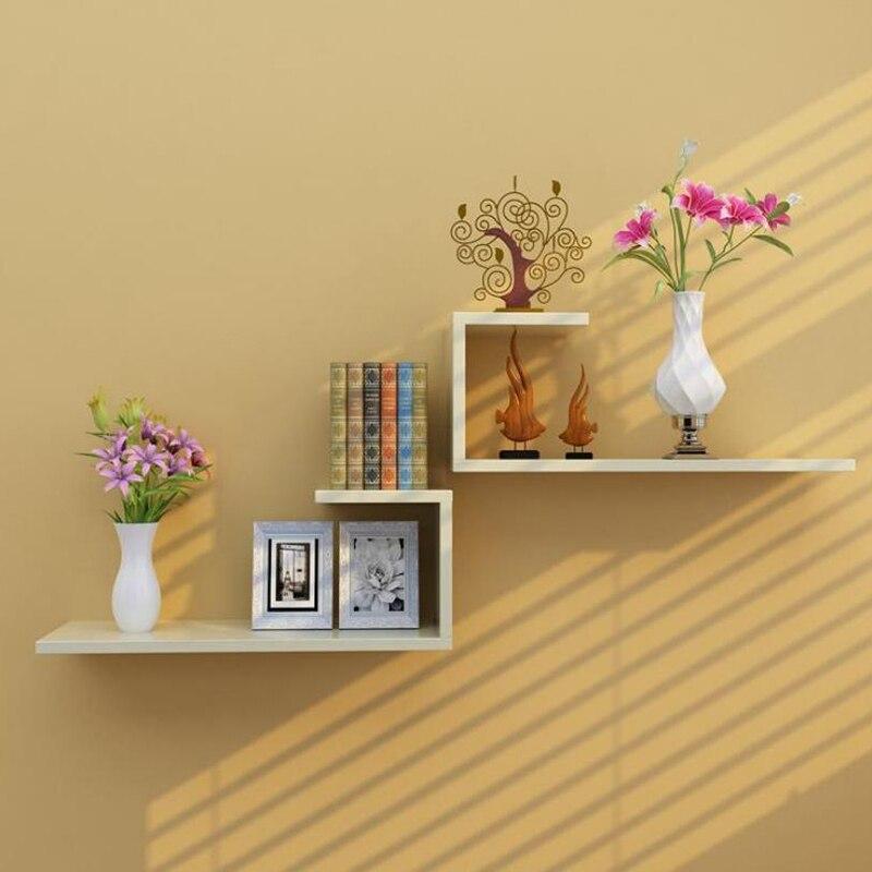 1 pieza, estante de pared para colgar, Partición de pared, sala de estar, TV, decoración de fondo de pared, estante, dormitorio, armario, celosía