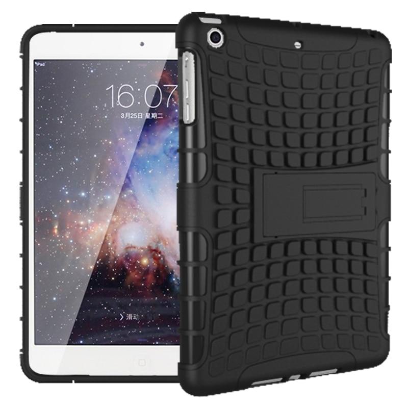 Para ipad mini 1 2 3 borracha à prova de choque híbrido heavy duty fique hard case fundas sfor apple ipad mini1 mini2 mini3 tablet cobrir