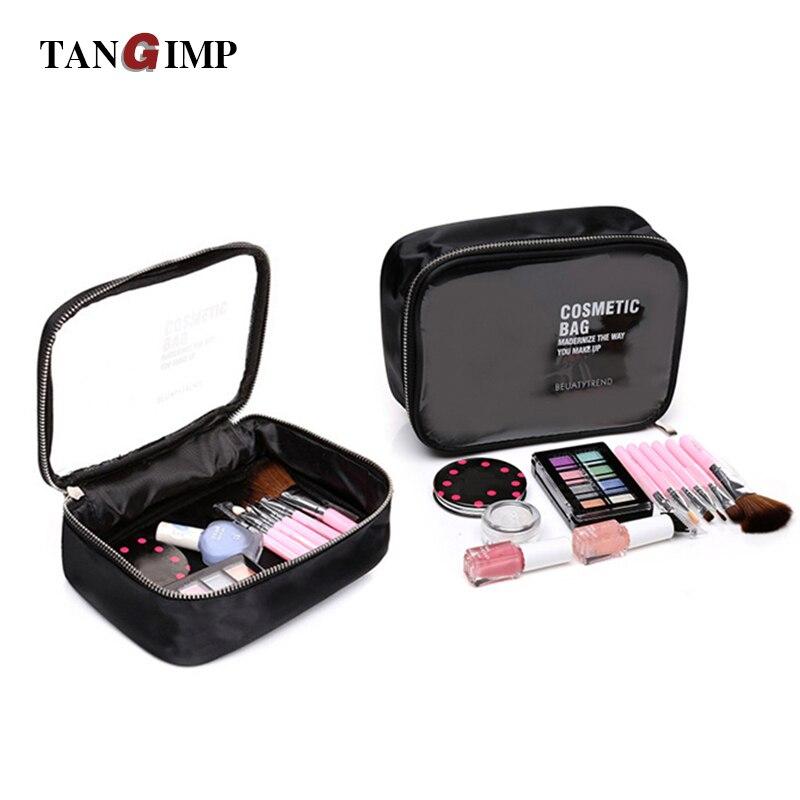 TANGIMP bolsas de cosméticos transparentes de PVC para mujer, estuche de belleza, bolsas de aseo impermeables, organizador de viaje, caja de bolsa de maquillaje necesaria