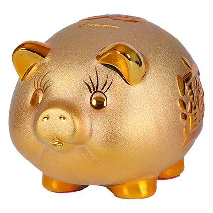 Lindo Cofrinho de Cerâmica Enfeites de Decoração de Casa Estatueta Money Saving Box Presentes de Aniversário