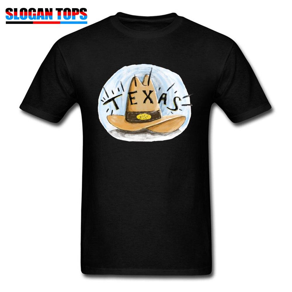 Camisetas de vaquero para hombre de Texas, camiseta personalizada de otoño, camiseta de manga corta de alta calidad, Camiseta de algodón 100% con cuello redondo