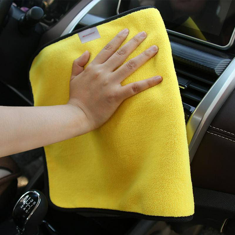 Durable Super Thick Plush Microfiber Car Cleaning Cloths Car Care Microfibre Wax Polishing Detailing Washing Towels