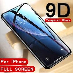 9D закаленное стекло для iphone 8plus 8 7 6 6s plus 7plus Защитное стекло для экрана для apple iphone x xs max xr s r xsmax
