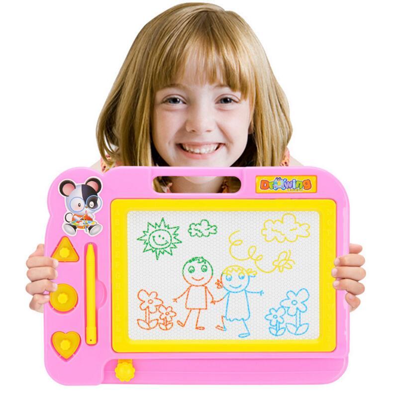 Pizarra de dibujo magnética 20*28 cm, bloc de dibujo, Doodle, escritura, pintura, Graffiti, arte, juguetes educativos para niños, juguete de aprendizaje