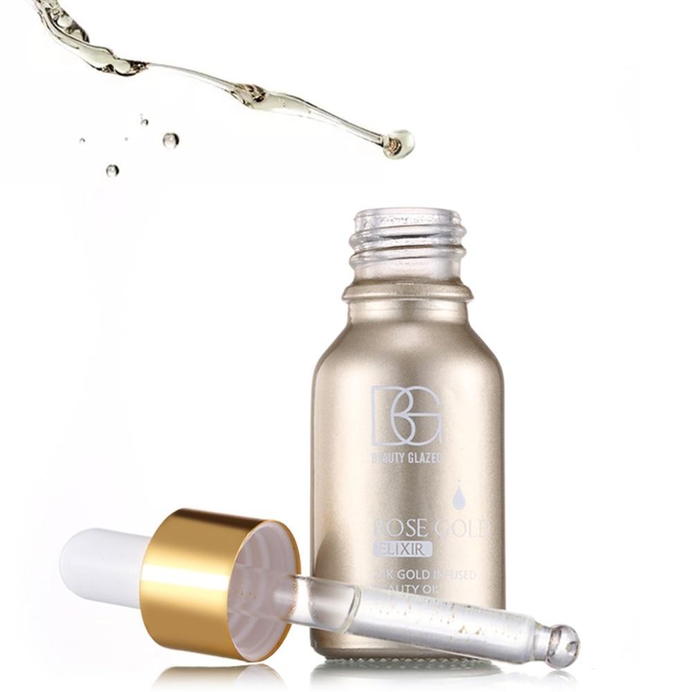 Beauty Glazed marca Rose Gold, esencia de aceite, Base de maquillaje humectante, Maquillaje facial de aceite esencial como Base de imprimación, gran oferta