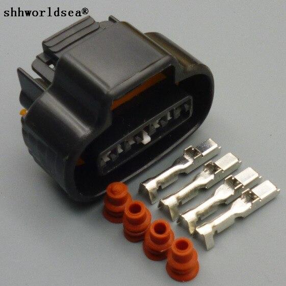 Shhworld Sea 1 шт. 2JZ-GE дистрибьютор кривошипно 4-контактный разъем провода TPS Boost сенсор овальный разъем катушки зажигания для Toyota