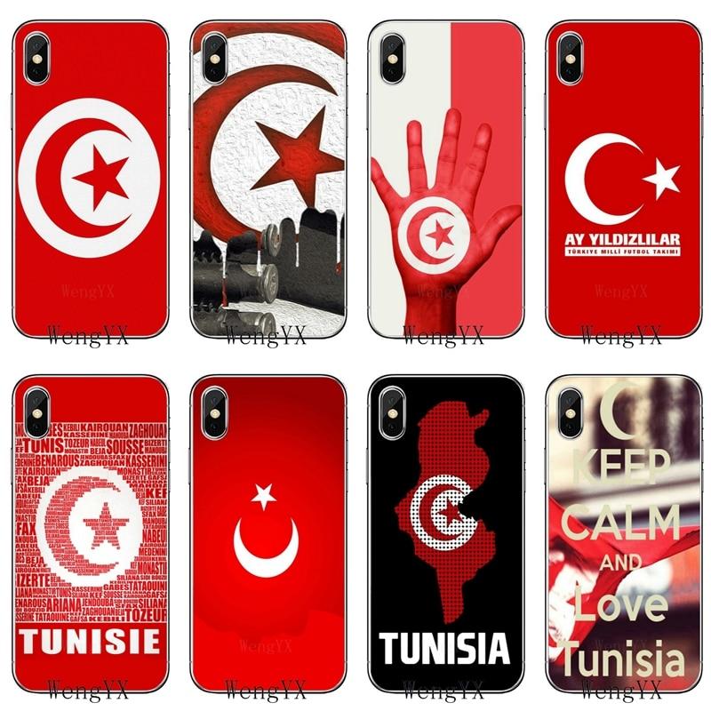 Funda de teléfono suave para Samsung Galaxy J4 J6 primer J8 A6s A7 A8 A9s estrella Nota 9 S10 lite más 2018 Tunis bandera mapa fahion