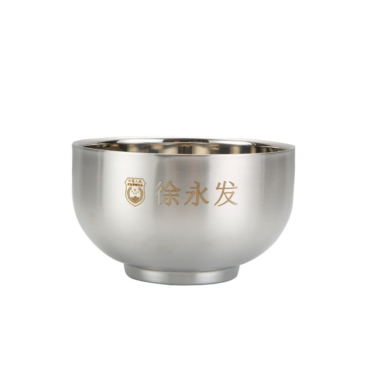 304 Stainless Steel Round Bowl Food Rice Soup Double Hot Insulation Container Kitchen Tableware Adult Children