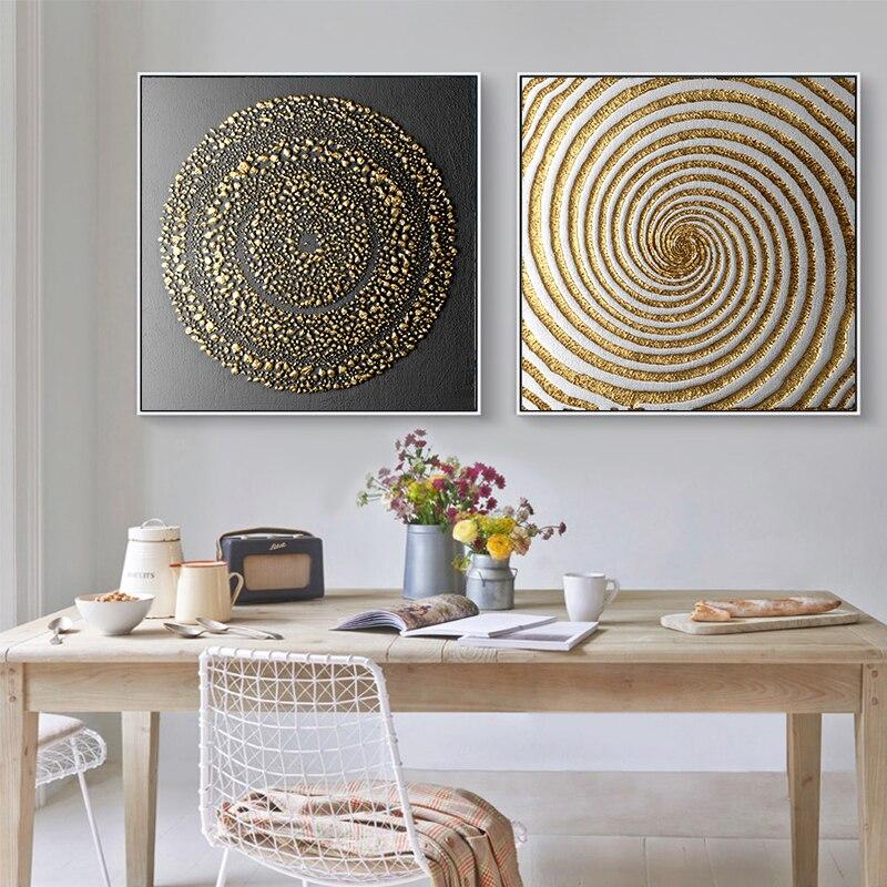 Lienzo abstracto negro y dorado pintura arte cartel impreso pintura figura HD impresiones imágenes para la pared para sala de estar Cuadros