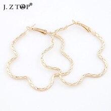 Geometrische Blume Hoop Ohrringe Mode Einfachen Legierung Fein Geschnitzte Kreolen Für Frauen argola grande Kleidung Zubehör